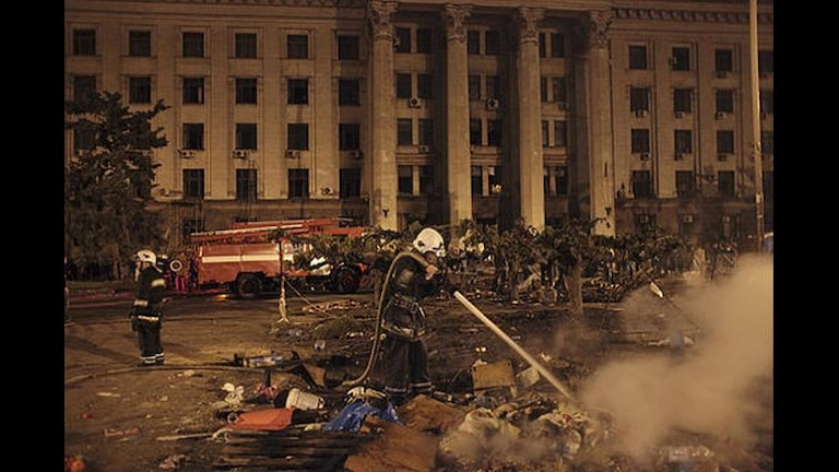 Дом профсоюзов в Одессе, после трагедии 2 мая 2014 года. Фото: ТТ