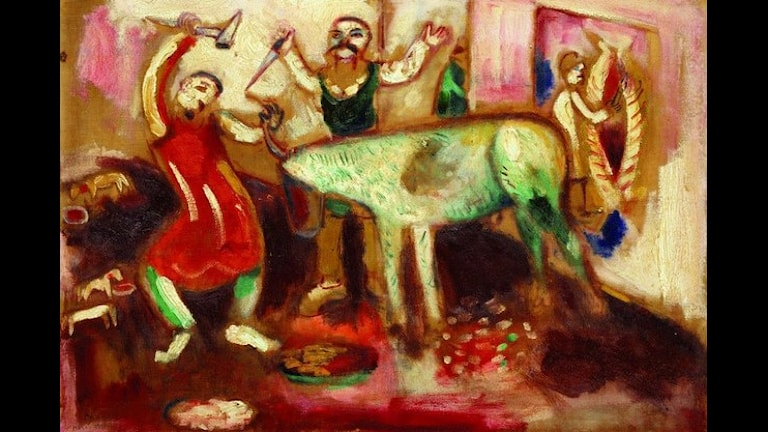 """Marc Chagall """"Abattoir"""", 1911. Foto: ©The State Russian Museum 2009"""