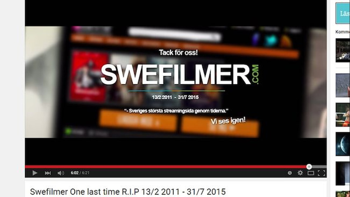 Swefilmer. 13.02.2011 - 31.07.2015. Фото: SVT