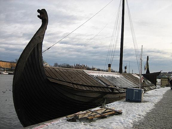Восстановленная ладья викингов