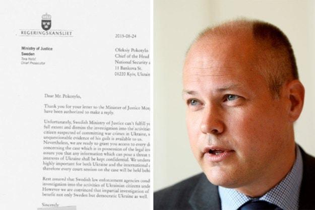 Копия фальшивого письма.Министр Юстиции Швеции Морган Юханссон.