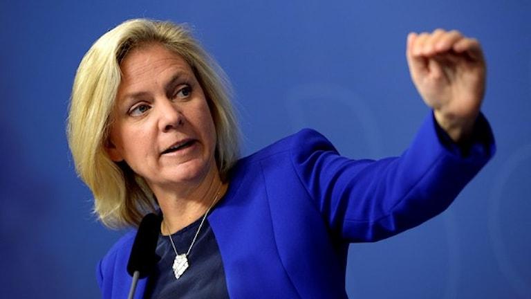Магдалена Андерссон, министр финансов Швеции. Фото:  Jessika Gow/TT