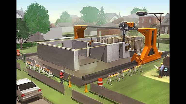 Образец печати дома в калифорнийском проекте. Графика: Center for Rapid Automated Fabrication Technologies