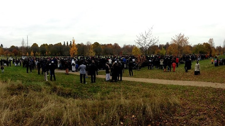 Похороны Ахмеда Хассана. Фото: Max Lindahl/Sveriges Radio