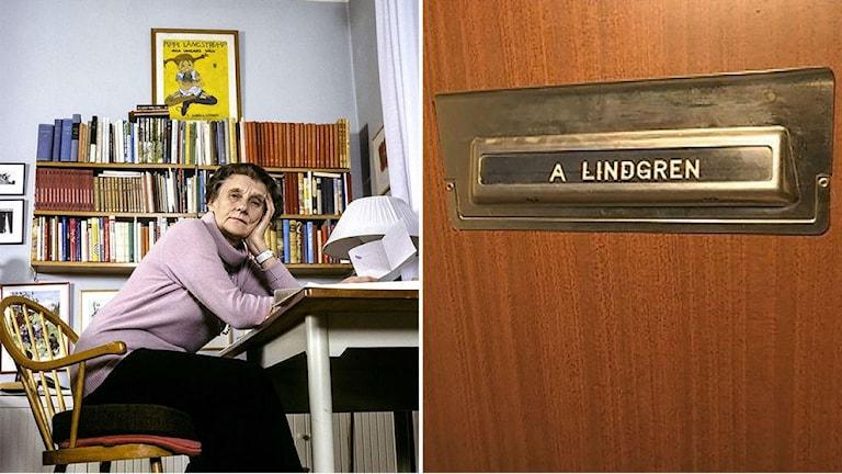 Астрид Линдгрен в своей квартире. Фото: SVT