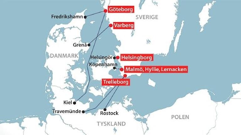 Все пути ведут в Швецию. Фото: SVT