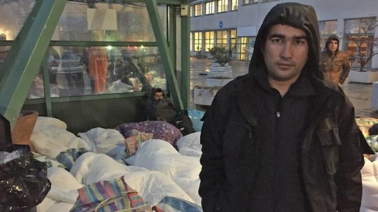 Беженцы в Швеции ночуют на улице