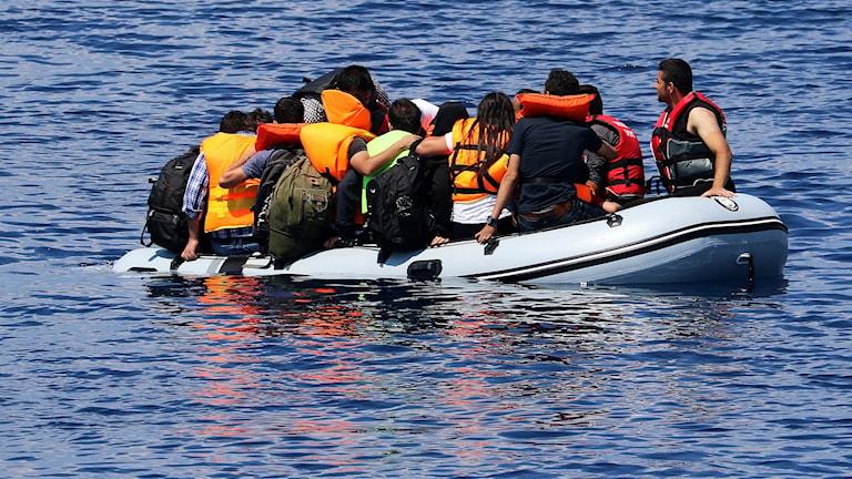 Это лодочные беженцы в Средиземном море. Но и к берегам Швеции тоже приплыли. Фото: Tanja Krangnes/Redningsselskapet