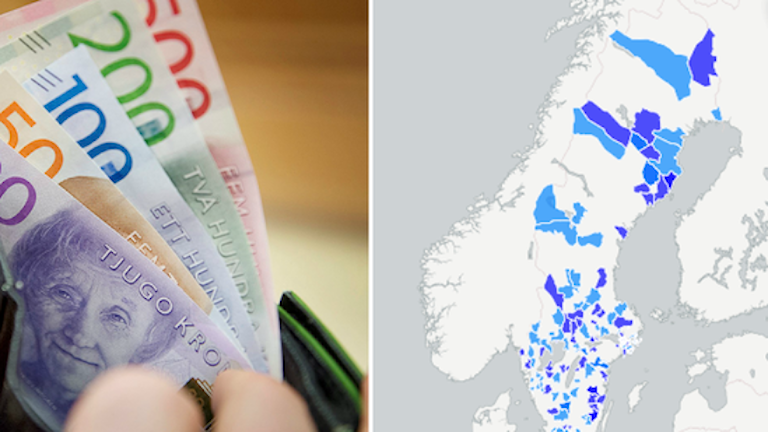 Шведские коммуны с положительным балансом бюджетов в 2016