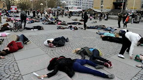 2012. Протест в Гётеборге против экспорта оружия. Фото: Jessica GowТТ