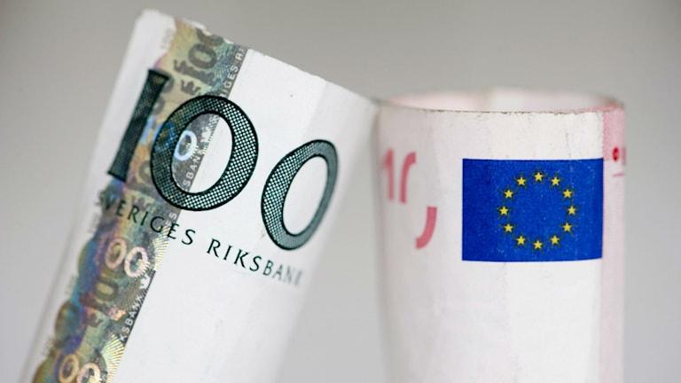 В кронах и евро. Фото: Henrik Montgomery/ТТ