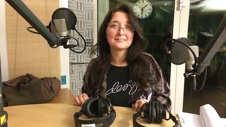 У нас в гостях Юлия Андерссон. Фото: Юрий Гурман/Радио Швеция