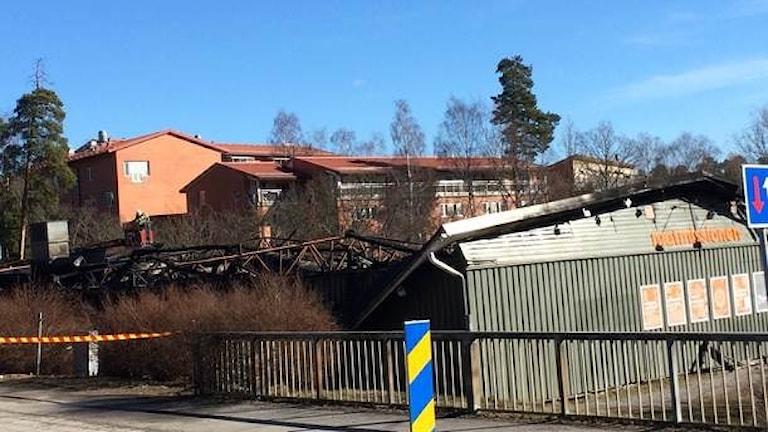 Социальный продмаг для малоимущих сгорел в Стокгольме