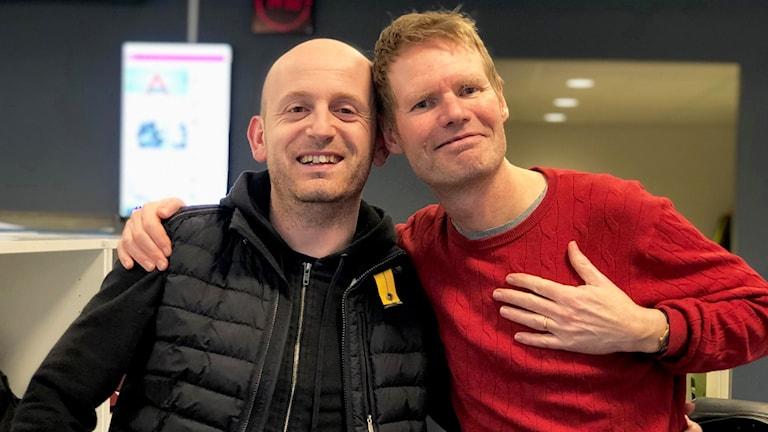 Med Skoob Salihi och Peter Olsson