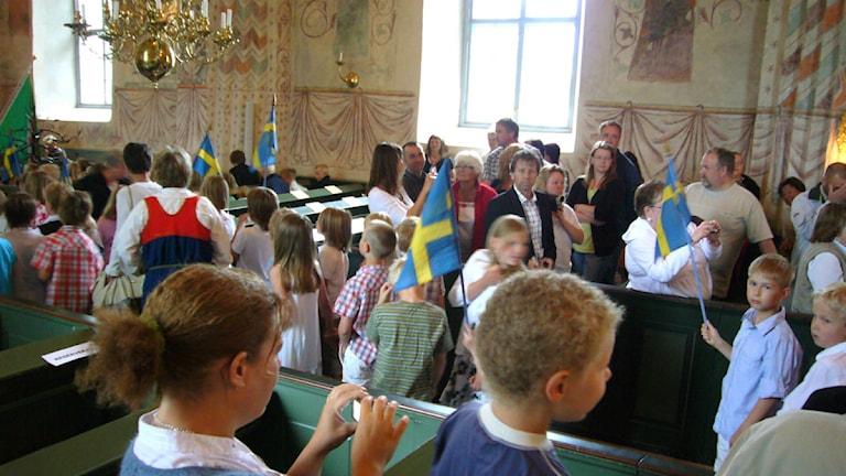 Schulabschlussfeier Schweden Kirche  (Foto Mons Brunius)