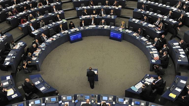 Das EU-Parlament in Straßburg, hier am 5. Februar 2013 bei einer Rede des französischen Präsidenten, Francois Hollande (AP Photo/Christian Lutz, File / TT.)