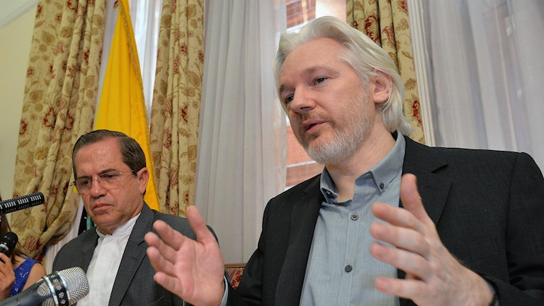 Julian Assange (Foto: AP Photo / John Stillwell / TT)