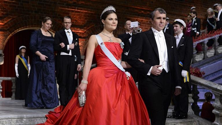 Kronprinzessin Victoria und der Chemie-Preisträger Eric Betzig Foto: Claudio Bresciani