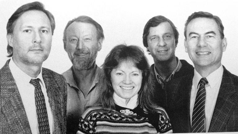 Radio Schweden sendet seit 75 Jahren Nachrichten aus Stockholm auf Deutsch. 1988 gehörten u.a. Witold Bieszk, Günter Graffenberger, Gundula Adolfsson, Hermann Orth und Peter Reichel zur Redaktion. Foto: Sveriges Radio/Radio Schweden