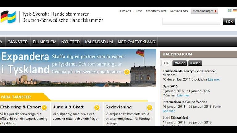 Tysk-Svenska Handelskammarens hemsida