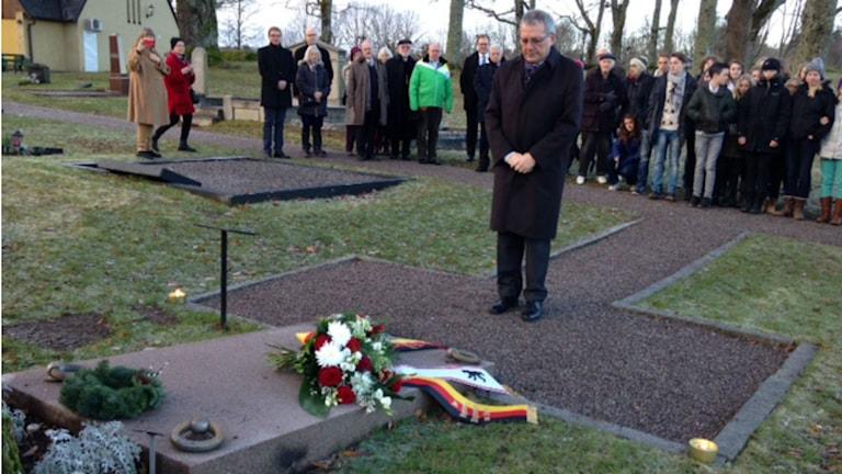Deutsche Botschaft Stockholm ehrt Kurt Tucholsky zu seinem 125. Geburtstag (Foto: Liv Heidbüchel/Radio Schweden)