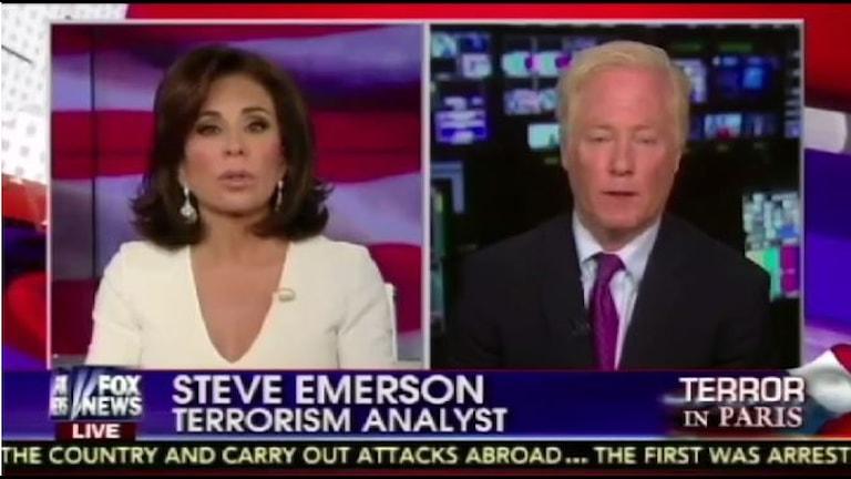 FOX News Experte Steve Emerson in Aktion (Bild: SVT)
