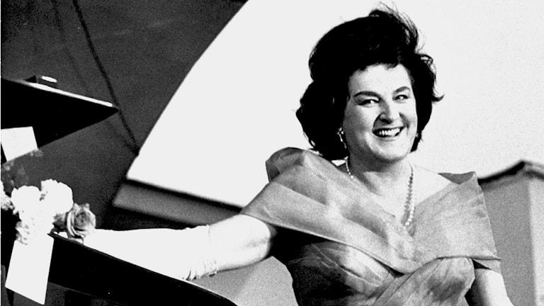 Die schwedische Sopranistin Birgit Nilsson war seit Ende der fünfziger Jahre eine der führenden Interpretinnen von Wagner-Opern. (Foto: Gunnar Westerlind /TT Schweden)