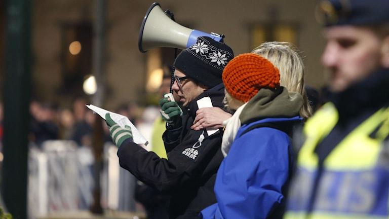 Pegida-Kundgebung in Malmö (Foto: Drago Prvulovic / TT)