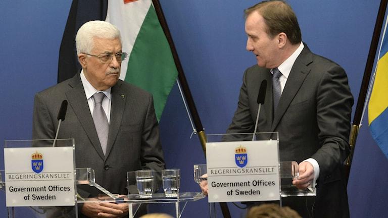 Abbas und Löfven am Dienstag (Foto: Jonas Ekströmer / TT)
