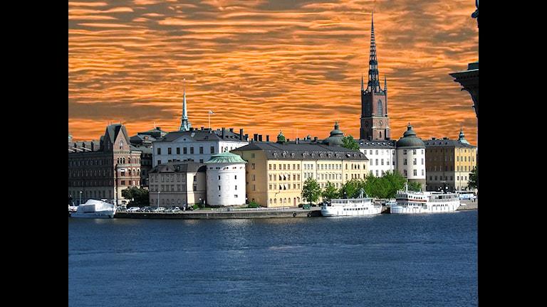 Stockholm panorama Riddarholmen