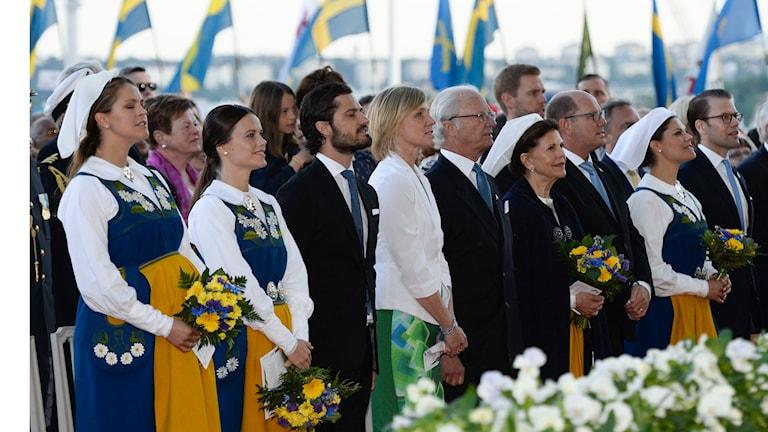 Die schwedische Königsfamilie begeht den Nationalfeiertag auf Skansen (Foto: Janerik Henriksson/TT)