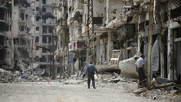 Homs Juni 2014 (Foto: Dusan Vranic/TT)