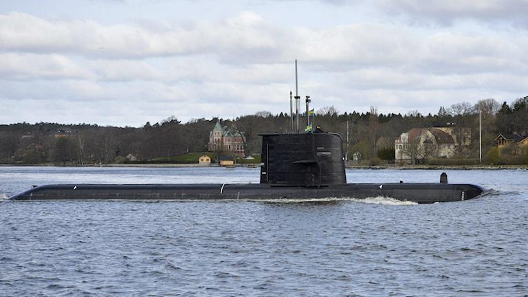 Ein schwedisches U-Boot der Gotland-Klasse verlässt Stockholm (Foto: Henrik Montgomery/TT)