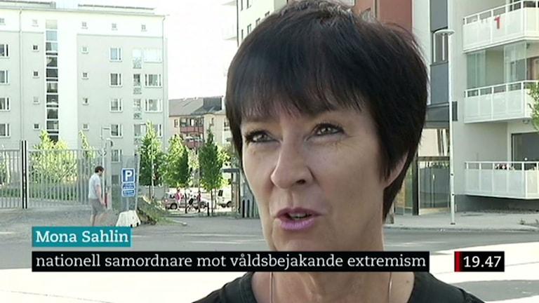 Mona Sahlin, Koordinatorin für den Einsatz gegen gewaltbereiten Extremismus (Bild: SVT)