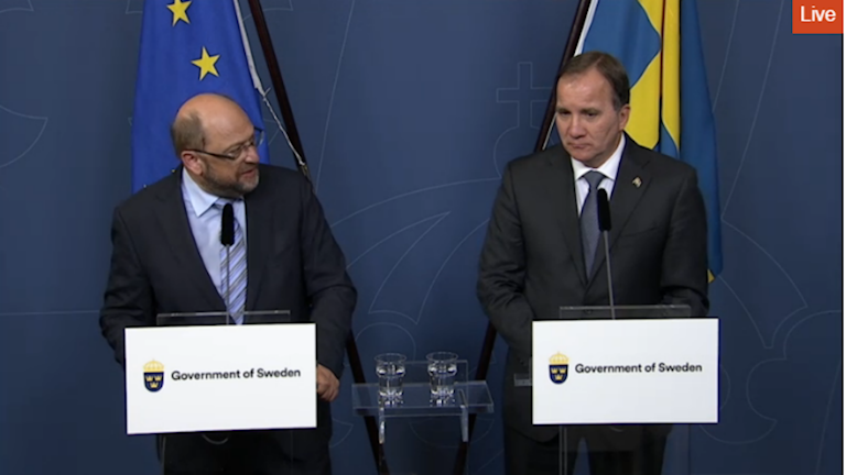 Schengen Schweden Flüchtlinge Martin Schmidt und Stefan Löfven