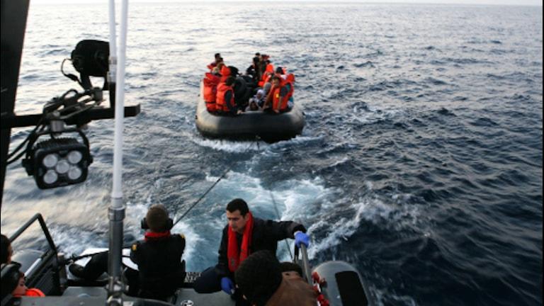 Rettung von Flüchtlingen im Mittelmeer (Foto: Schwedische Küstenwache)