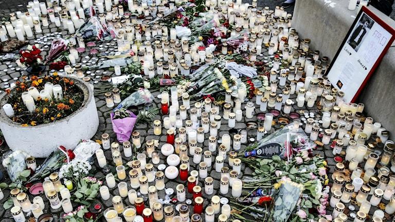 Trauer in Trollhättan (Foto: Adam Ihse / TT )