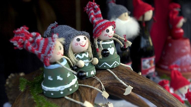 Zum Weihnachtsschmuck und in die Weihnachtsliteratur gehören in Schweden Kobolde und Trolle. Foto: Anders Wiklund/TT