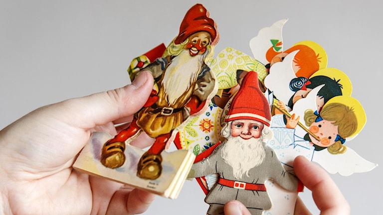 Altmodische Weihnachtsdeko, wie sie in Schweden nicht mehr so oft benutzt wird. (Foto: Ola Torkelsson / TT/ Kod 75777)