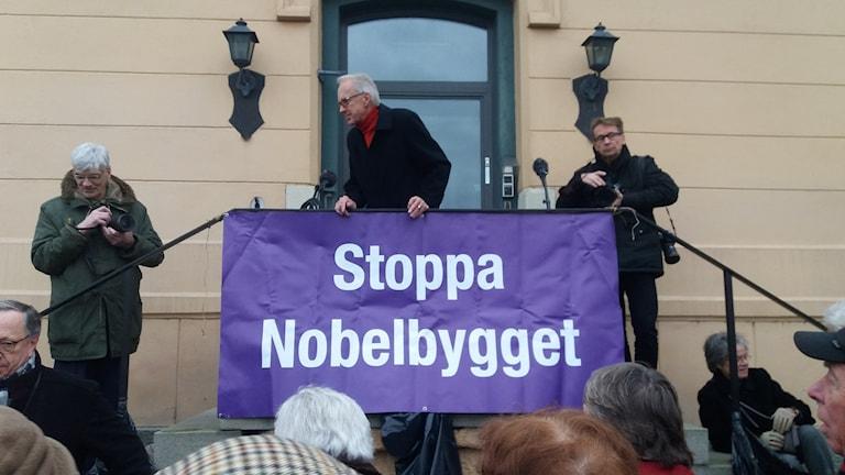 Schweden Protest Nobelcentrum Foto: Egor Putilov/SR