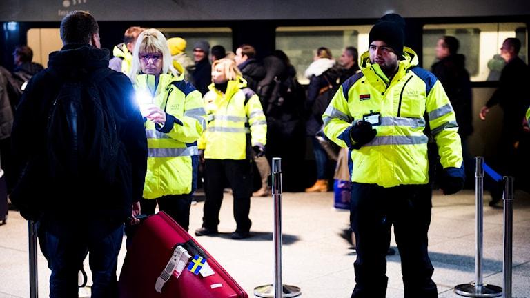 Grenzkontrollen am Öresund Schweden Dänemakr
