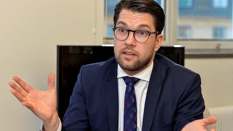 Sverigedemokraternas partiledare Jimmie Åkesson.