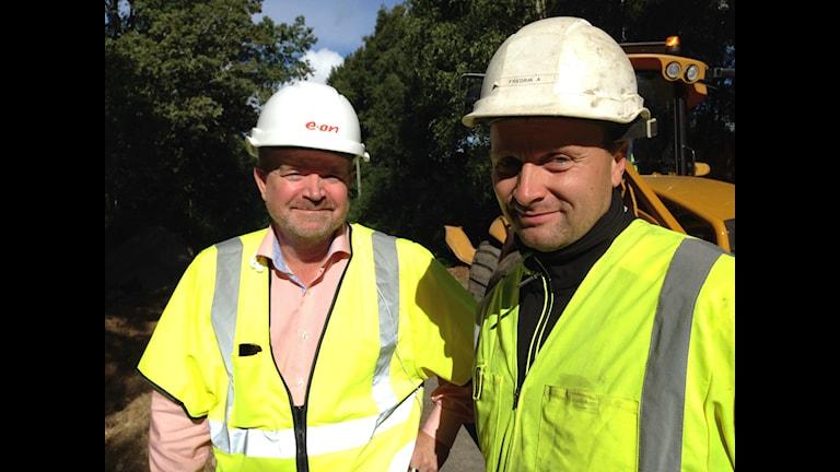 Eons kommunikationschef Torbjörn Larsson och projektledaren Fredrik Andersson.