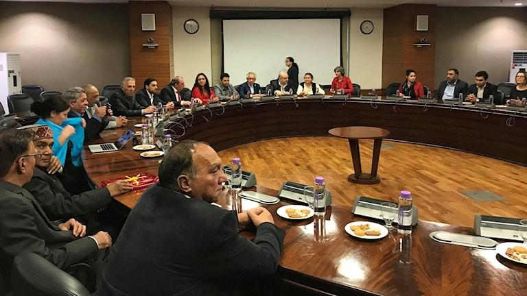 Delegatura po khedipe kusa e ministerka  Sushma Swaraj