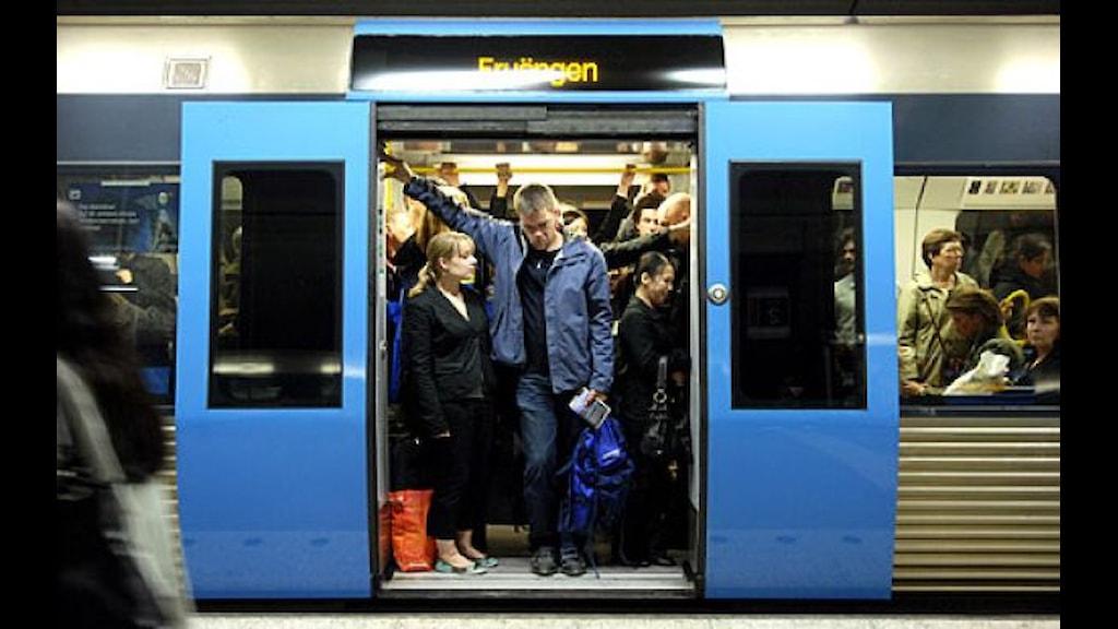 Problemo ando Stockholmo e tunnelbanasa
