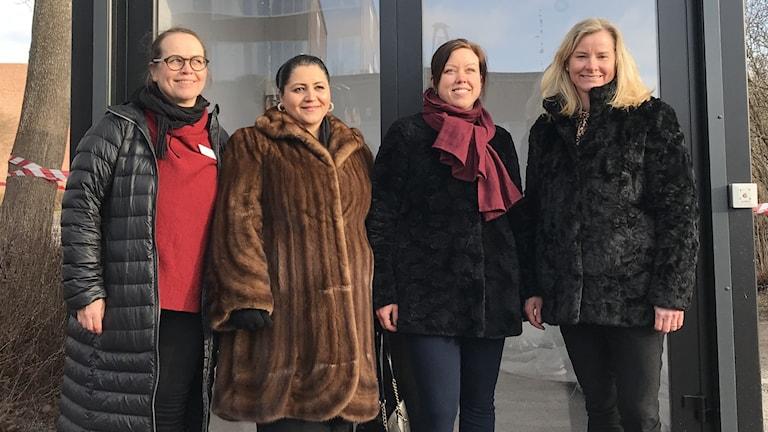 Från vänster Helene Löwgren, Emilia Huczko, Emelie Hahn, Cilla Peiro