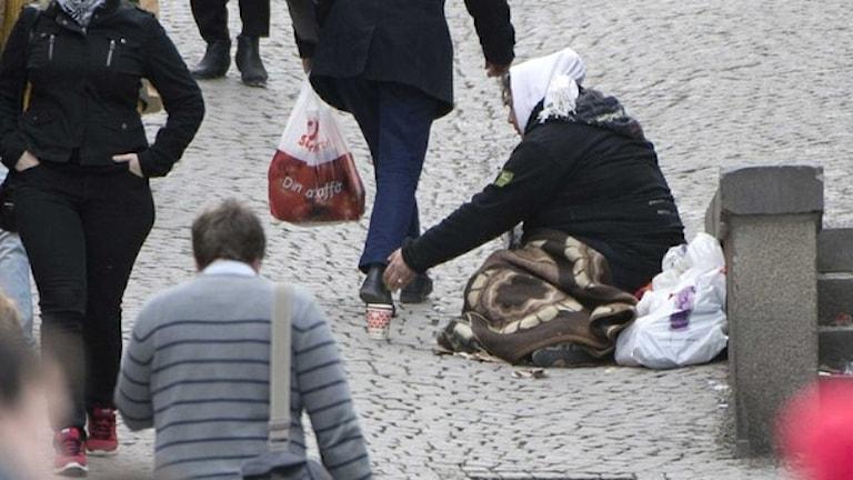 Tiggare vid Slussen i Stockholm. Foto: Fredrik Sandberg/TT