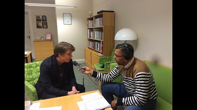 Ullenhag aj Radio Romano. Foto: Radio Romano