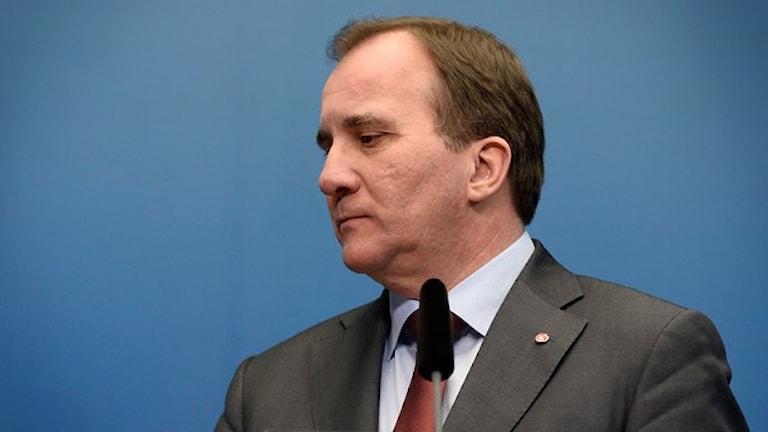 Stefan Löfven meddelar att han kommer utlysa extraval. Foto: TT
