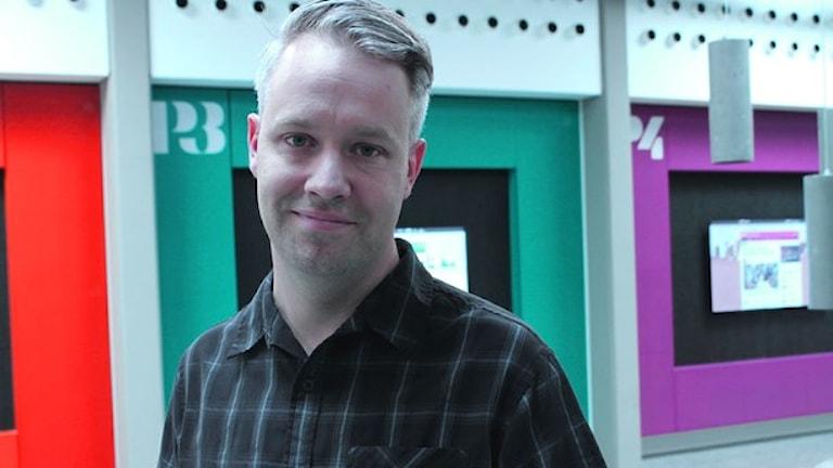 Måns Jonasson at the Internet Museum. Photo: Cassandra Alm/SR